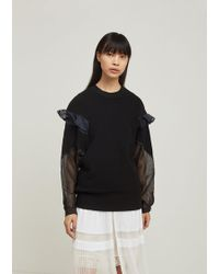 Sacai - Ripstop Knit Pullover - Lyst
