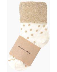 Tsumori Chisato - Glitter Dot Socks - Lyst