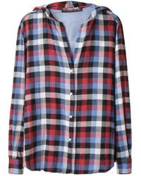 Les Prairies de Paris - Hooded Plaid Shirt - Lyst