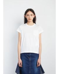 Sacai   Cotton Jersey T-shirt   Lyst