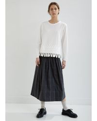 Zucca - Pleated Wool Check Skirt - Lyst