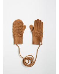 Antipast - Cashmere Mitten Gloves - Lyst