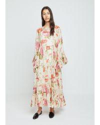Péro - Floral Print Dress - Lyst