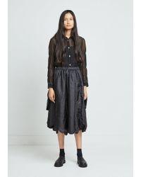 Comme des Garçons - Taffeta Garment Washed Skirt - Lyst