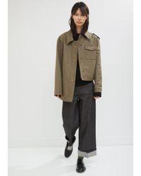 Gosha Rubchinskiy - Wool Hybrid Asymmetrical Coat - Lyst