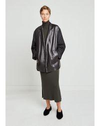 Nehera - Luboji Leather & Wool Flannel Jacket - Lyst