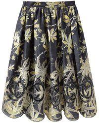 SUNO - Golden Leaves Skirt - Lyst