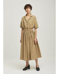 Black Crane | Classy Cotton Short Sleeve Dress | Lyst