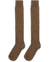 A Detacher - Alpaca Knee Socks - Lyst