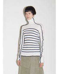 Sies Marjan - Harrie Linen Stripe Turtleneck Sweater - Lyst