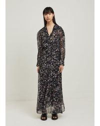 Isabel Marant - Maxene Floral Print Silk Dress - Lyst