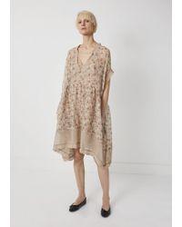 Péro - Linen Silk Print Dress - Lyst