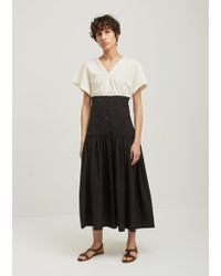 Black Crane - Lantan Pleated Cotton Skirt - Lyst