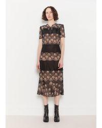 Maison Margiela - Printed Georgette Dress - Lyst