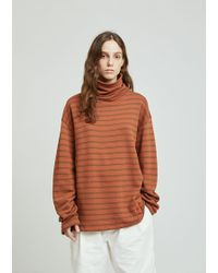 Gosha Rubchinskiy - Striped Turtleneck Longsleeve T-shirt - Lyst