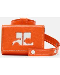 Courreges - Box Vinyl Logo Waist Bag - Lyst