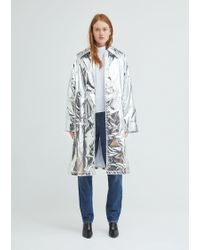 MM6 by Maison Martin Margiela - Silver Trench Coat - Lyst