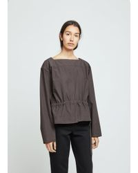 Lemaire - Gathered Poplin Blouse - Lyst