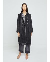 Péro - Checked Double Breasted Jacket - Lyst