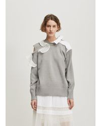 Sacai - Ruffle Knit Pullover - Lyst