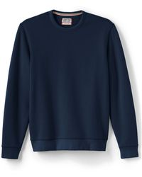 a86708c1 Lands' End Serious Sweats Crew Neck Sweatshirt in Blue for Men - Lyst