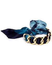 W. Britt | Curb Chain Paint Splatter Print Scarf Tie Bracelet | Lyst