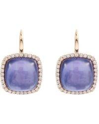 Roberto Coin - 'cocktail' Diamond Lapis 18k Rose Gold Drop Earrings - Lyst