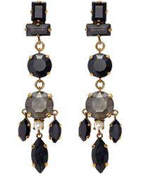 Erickson Beamon - 'dark Shadows' Swarovski Crystal Drop Earrings - Lyst