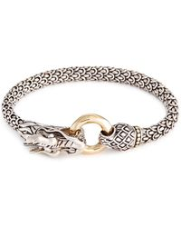 John Hardy - 18k Yellow Gold Silver Scaly Dragon Bracelet - Lyst