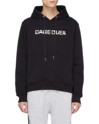 Mostly Heard Rarely Seen - 'game Over Continue' Textured Slogan Print Hoodie - Lyst