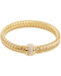 Roberto Coin - 'primavera' Mother-of-pearl 18k Yellow Gold Bangle - Lyst