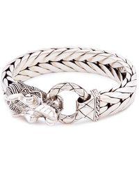 John Hardy - Silver Naga Weave Effect Link Chain Bracelet - Lyst