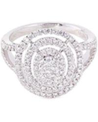 LC COLLECTION - Diamond 18k Gold Circular Cutout Ring - Lyst