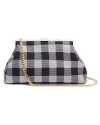 Mansur Gavriel | 'mini Volume' Gingham Check Clutch | Lyst