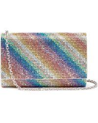 Judith Leiber - 'fizzy' Rainbow Stripe Crystal Pavé Clutch - Lyst