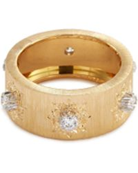Buccellati - 'macri' Diamond Gold Ring - Lyst