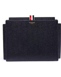 Black Tablet Folio Pouch Thom Browne JAnosr