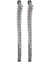 Venna - Detachable Glass Crystal Fringe Drop Earrings - Lyst