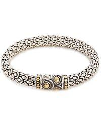 John Hardy - Gold Silver Scaly Bracelet - Lyst