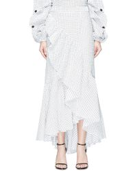 Hellessy - 'canyon' Ruffle Check Mock Wrap Skirt - Lyst
