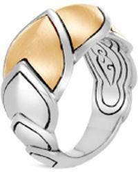John Hardy - Sterling Silver & 18k Bonded Gold Legends Naga Brushed Medium Ring - Lyst