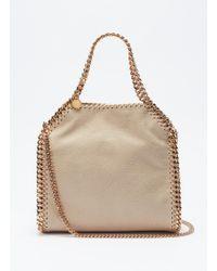 bdcd5c473c36 Lyst - Stella Mccartney  falabella  Mini Quilted Crossbody Bag in Black