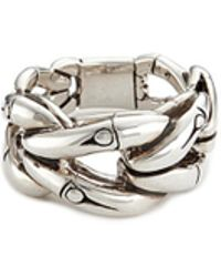 John Hardy - Silver Bamboo Loop Ring - Lyst