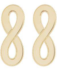 Roberto Coin - 'chic & Shine' 18k Yellow Gold Infinity Drop Earrings - Lyst