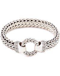 John Hardy - Silver Large Woven Chain Bracelet - Lyst
