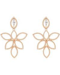 Roberto Coin - 'new Barocco' Diamond 18k Rose Gold Openwork Drop Earrings - Lyst