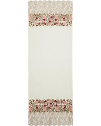 Janavi - 'waiting For Love' Lace Panel Floral Embroidered Cashmere Scarf - Lyst