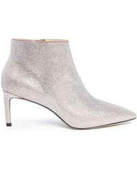 Pedder Red   'harvey' Strass Pavé Suede Ankle Boots   Lyst