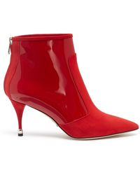 Paul Andrew - 'citra' Suede And Patent Leather Ankle Boots - Lyst