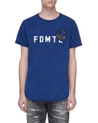 FDMTL - Sashiko Appliqué Logo Print T-shirt - Lyst
